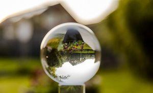 Kristallkugel Wahrsager Glaskugel mit Ständer transparent ø100mm