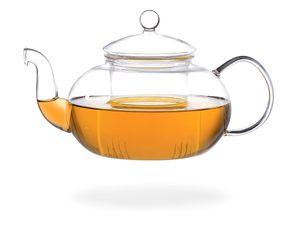 Melina Glaskanne / Teekanne glas 1,8 liter mit Sieb /Filter, Borosilikatglas