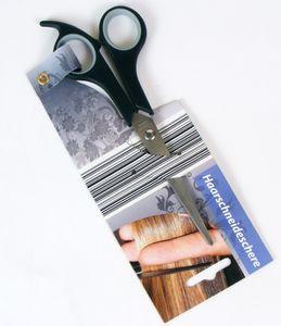 Haarschneideschere 17cm, mit Kunststoffgriff