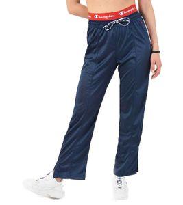 Champion Jogging-Hose bequeme Damen Trainings-Hose mit coolem Seitenstreifen Blau, Größe:S