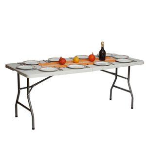 Gartentisch Verkaufstisch Esstisch Bierzelttisch Klapptisch Weiß 180cm klappbar