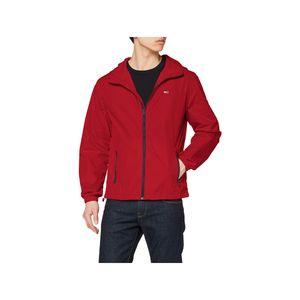 Tommy Jeans Herren Packbare Windbreaker Jacke, Schwarz L
