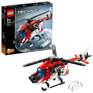 LEGO 42092 Technic Rettungshubschrauber, 2-in-1 Spielzeugflugzeug, Modellbausatz für Jungen und Mädchen ab 8 Jahren