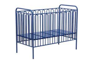 Polini Kinderbett Gitterbett aus Metall Vintage 150 blau, 1649.3