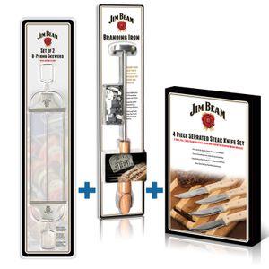 3er Geschenk-Set Jim Beam BBQ Grillzubehör