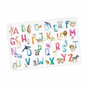 stabile Vinyl Schreibtischunterlage Alphabet Bastelmatte Kinder Platzset abwaschbar