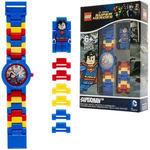 LEGO Heroes Glieder-Armbanduhr Superman Kunststoff 8020257