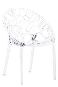 CLP Stapelstuhl Crystal wetterbeständiger Stapelstuhl mit einer Sitzhöhe von 45 cm, Farbe:transparent