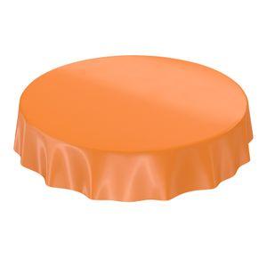 Uni Orange Einfarbig Rund 140cm Wachstuch Tischdecke