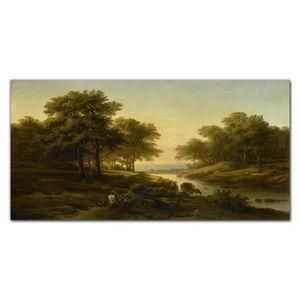 Coloray Bild aus Leinwand 100x50 Leinwand Dekoration - Landschaft Fluss Wald Natur