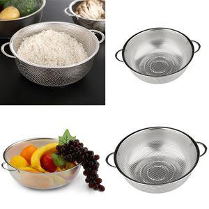 Edelstahl Mesh Sieb Sieb Reis Gemüse Sieb 22,5 Cm + 28,5 Cm