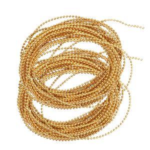 2x Perlengirlande Perlen Gold Hochzeit Perlenband Nagel Perlen Schmuckperlen