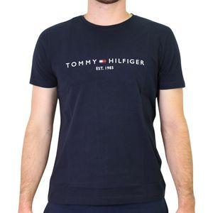 Tommy Hilfiger Logo-T-Shirt Herren Dunkelblau (MW0MW11465403) Größe: XL