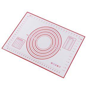 Backmatten Silikon Kuchenteig Kneten Rollen Antihaftfolie 60x40 rot Größe 60x40 Rot