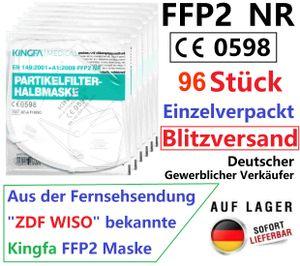 96x Kingfa FFP2 Maske Schutzmaske Atemschutzmaske Mundschutz CE0598, KF-A F10(SC)
