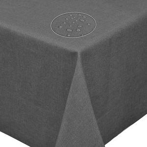 Tischdecke Leinendecke Leinenoptik Wasserabweisend Lotuseffekt Tischtuch Fleckschutz Eckig 160x160 cm Grau