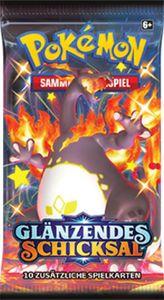 Pokemon Booster Pack Glänzendes Schicksal Original - DE - NEU, Original - 1x Stück, Zufalls-Motiv