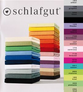 Schlafgut Spannbetttuch 15001-BASIC, 90/190-100/200cm, Mako-Jersey, Farben:128-graphit