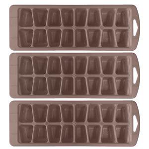 3 Stück Eiswürfelformer Eiswürfelzubereiter Eiswürfelbehälter Eis Eiswürfel Former Farbe: grau