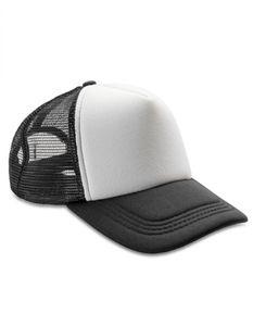 Netzkappe Detroit œ Mesh Truckers Cap - Farbe: Black/White - Größe: One Size