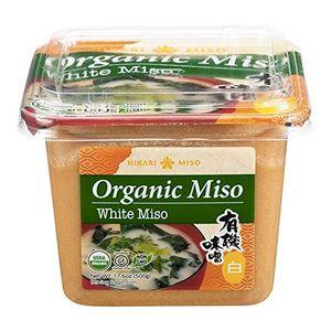 500g Organic Shiro Miso Paste Glutenfrei, helle japanische Miso-Paste Hikari Aka dunkle Misopaste für Misosuppe Sojabohnenpaste Miso-Suppenpaste 500g aus Japan