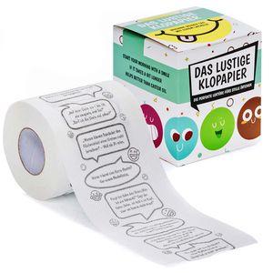 Bedrucktes Toilettenpapier mit Witzen - Fun Klopapier mit lustigen Jokes