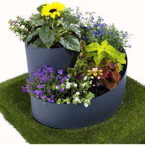 Kräuterspirale, Pflanzspirale, 35 x ⌀55 cm, ideal für den eigenen Kräutergarten, UV stabil, äußerst robust, rundes Kräuterbeet, aus Kunststoff