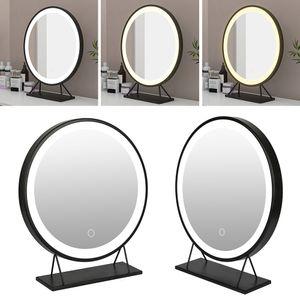 WYCTIN Kosmetikspiegel Schminkspiegel Mit LED Beleuchtung MakeUp Einstellbar Helligkeit 40*40cm
