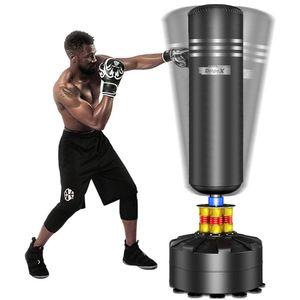 Dripex Boxsack Erwachsene Freistehender Standboxsack MMA Boxpartner Boxing Trainer Heavy Duty Boxsack mit Saugfuß-Schwarz