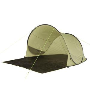 10T Trinidad UV 80+ - Pop-Up Strandmuschel 220x180x110cm Wind- & Sonnenschutz mit Bodenplane