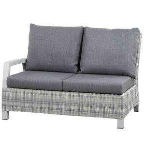 Loungemodul Siena Garden Corido 2-Sitzer rechts Polyrattan ice grey