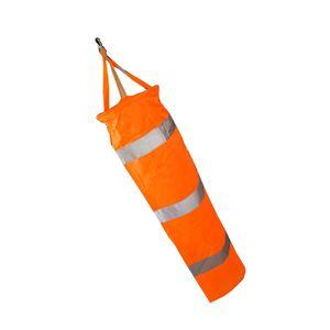 Airport Windsack Outdoor Wind Socke Tasche Reflektierende Gürteltülle 100cm Orange Moderne Flughafen Windsack