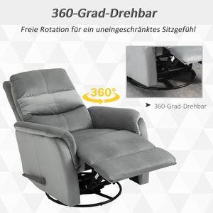 HOMCOM Relaxsessel Liegesessel TV Sessel Einzelsofa 140° neigbar Fernsehsessel Polyester Grau 80 x 102 x 100 cm