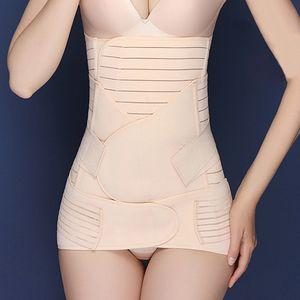 Body Shaper Guertel 3 in 1 postpartale Wiederherstellung Taille Unterstuetzung Bauch Becken Guertel Bauchwickel fuer Frauen