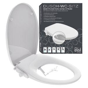 EISL Dusch WC-Sitz Aufsatz, Toilettensitz mit Bidet Einsatz, Po Dusche & Absenkautomatik, Weiß
