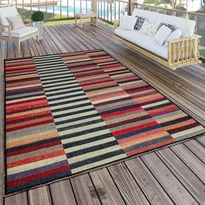 In- & Outdoor Teppich Modern Boho Muster Terrassen Teppich  Bunt, Grösse:80x250 cm