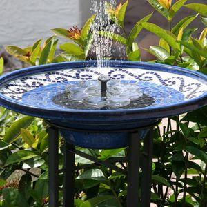 Neu Solar Springbrunnen, 1.5W Vogelbad Brunnen Garten Deko,Gartendeko Solar Fontäne, für Außen Miniteich