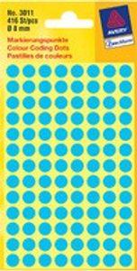 AVERY Zweckform Markierungspunkte Durchmesser 8 mm grün 416 Stück