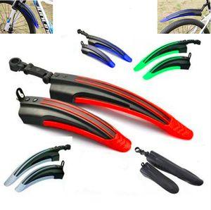 2 Stück Fahrrad Schutzblech Set Fahrradschutzblech Steckschutzblech Einstellbar für 20''-26''