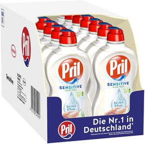 Pril Sensitive Aloe Vera 16x450 ml Handgeschirrspülmittel Spülmittel Reinigen