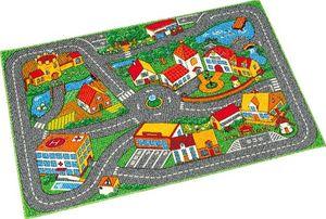 Straßenteppich Quiet Town Straße Stadt Kinderteppich Teppich 95x133 cm bunt