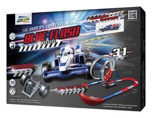 Darda 50246 Blue Flash mit blauen Formula Rennwagen,Spielbahnen