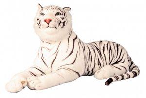 XXL Tiger Plüschtier Weiss 1,10 m Kuscheltier