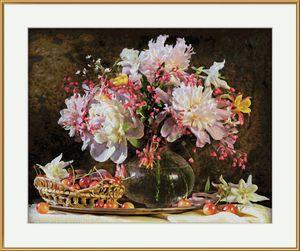 Noris Spiele Malen nach Zahlen - Blumenstrauß mit Kirschen; 609130773
