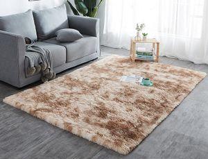 Hochflor Teppich Wohnzimmerteppich Langflor Teppiche für Wohnzimmer flauschig Shaggy Schlafzimmer Bettvorleger Outdoor Carpet (200 x 300 cm, Beige mit Muster)