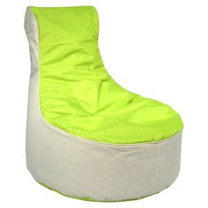 Sitzsack / Sessel 2-farbig ca. 80 x 80 x 90 cm,  Apfelgruen, outdoorfähig