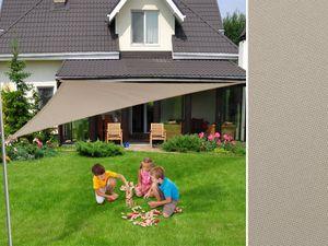 Sonnensegel dreieckig, wasserabweisend, Farbe: grau, Größe: 5 x 5 x 5 m