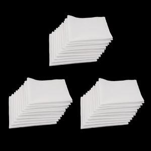 30 Stück Taschentücher Unisex Vintage 100% Baumwolle Einstecktuch Waschbar Halstücher