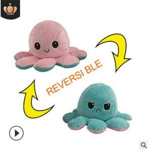 Niedliche Octopus Plüschtiere,Octopus Kuscheltierpuppe,Kreative Spielzeuggeschenke für Kinder, Pink & Hellblau