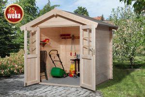 Gerätehaus Holz 28 mm Weka Gartenhaus 209 Gr.1 natur 253x230cm